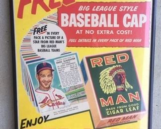 1950's Johnny Mize Red Man Poster