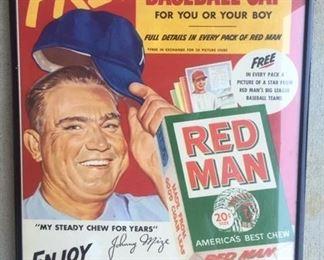 1950's Enos Slaughter Red Man Poster