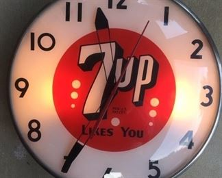 Seven Up Light Up Clock by Telechron