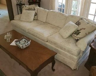 Sofa by the Bannister Park Collection and Thomasville Coffee Table