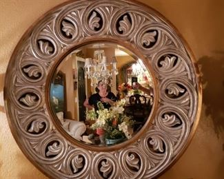 Beautiful baroque silver and gold mirror