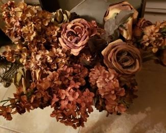 Silk flowers in autumn colors.  Perfect for fall decor