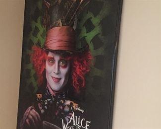 Large framed Alice in Wonderland print