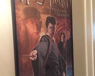 Harry Potter framed poster