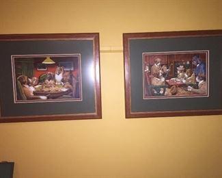 Framed Wells Cabin advertising art