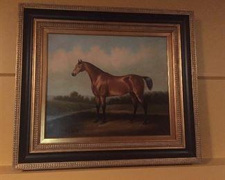 Fantastic framed horse artwork