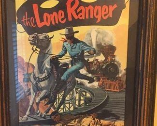 Framed Lone Ranger comic