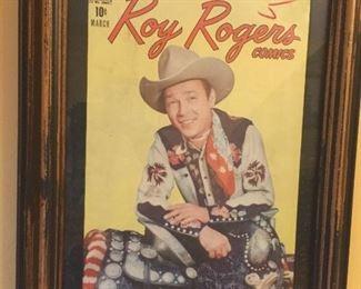 Framed Roy Rogers comic