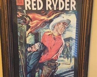 Framed Red Ryder comic