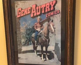 Framed Gene Autry comic