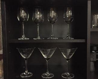 Rosenthal Wine glasses, martini glasses, shot glasses