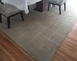 10x16 taupe wool and silk rug