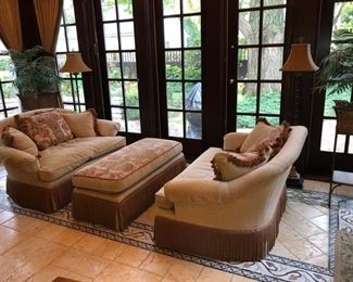 Gorgeous Pearson loveseats and ottoman