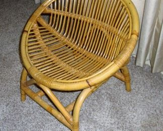 VINTAGE CHILDS BAMBOO CHAIR