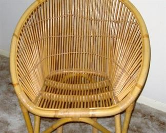 VINTAGE ADULT BAMBOO CHAIR - WE HAVE THE PAIR