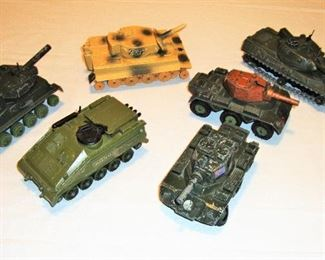 "DINKY, SOLIDO & CRESCENT TANKS - ""ENGLAND & BRITIAN"""