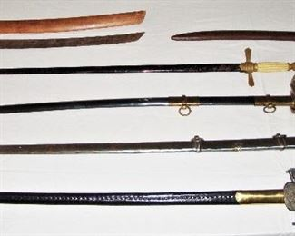 SWORD COLLECTION - 1860'S CIVIL WAR CAVALRY SABER SWORD, LATE 1800's KNIGHTS OF PYTHIAS CEREMONIAL SWORD, M.C. LILLEY & CO., KNIGHTS TEMPLAR SWORD, HENDERSON AMES CO. and MORE! (SEE NEXT 5 PHOTOS)