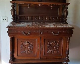 Beautiful antique French server w/ marble top