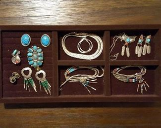 Sterling and turquoise jewelry