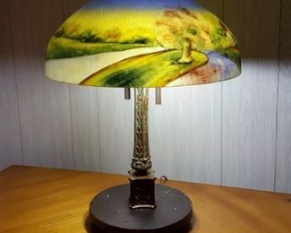 Jefferson reverse painted lamp