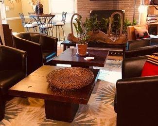 Arhaus wood coffee tables