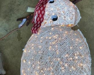 Large lighted snowman - 1 of 2-new in box