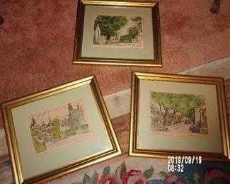 Signed and Numbered William Mck. Spierer Framed Prints