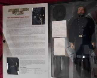 "Figurine Major General William Tecumseh Sherman - Sideshow 12"" Complete in box"