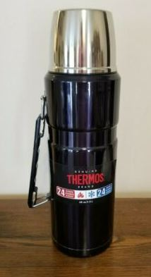 Thermos Stainless King 2-Liter/68Oz Beverage Bottle Black Thermos Flask