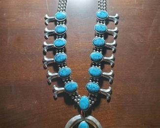 Squash Blossom Turquoise / Necklace