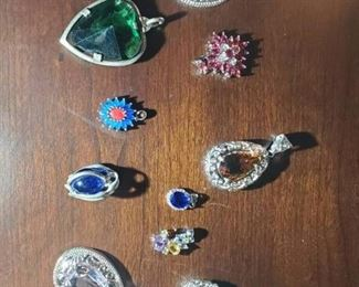 Stones Necklace Pendants Lot
