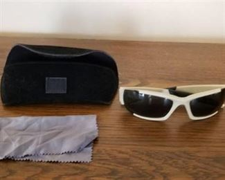 ESS White Sunglasses with Case and Cleaning Cloth