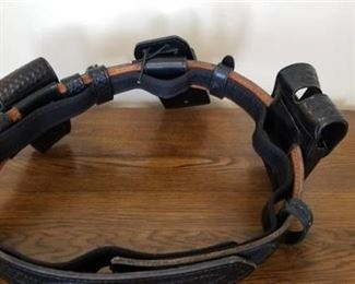 Black Police Leathers Belt with Cases Attached