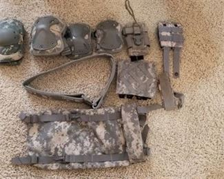 Military Knee Pads, Belt and Attachment Pieces