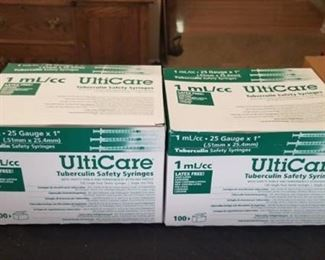 UltiCare Tuberculin Safety Syringes 2 Boxes