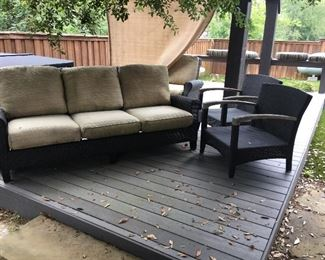 Outdoor furniture in pretty good shape
