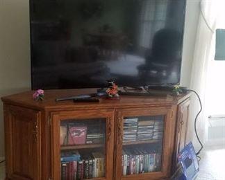 "50"" Samsung TV  & TV cabinet"