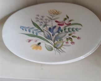 Hall China, hand painted dishes