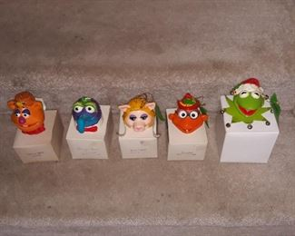Muppet Christmas ornaments , vintage