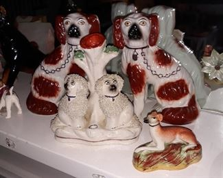 "6"" Staffordshire Spaniel dogs. And other s"