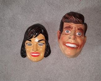 JFK and Jackie masks,  early 1960s