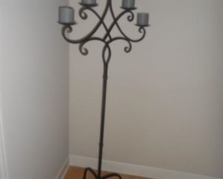 tall candelabra, wrought iron