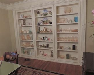 lots of Jeanette and Pink Adam Depression glass and a variety of other glass