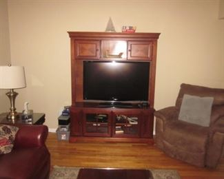 Fireplace Heater Cabinet ~ Ultra Suede Lounge Chair