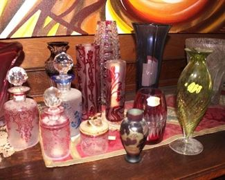 Abundance of Beautiful Decanters, Vases and Other Fine Pieces