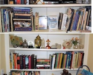 100s of books from novels to Christian to vintage children to non-fiction --Home Decor