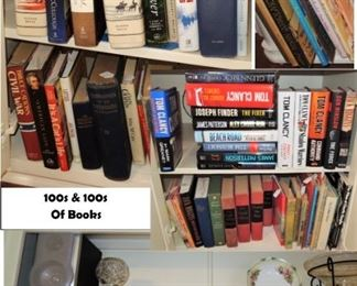 100s of books from novels to Christian to vintage children to non-fiction
