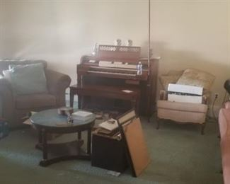 Vintage Wood Furniture and a piano and organ too!