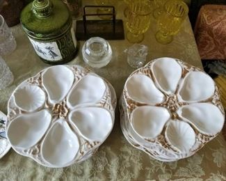 oyster plate set by Limoges