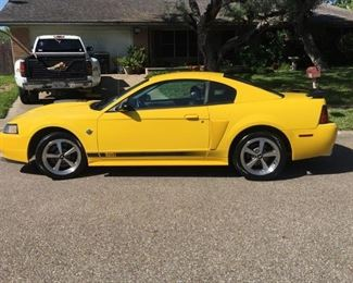 2004 Mach1 limited edition screaming yellow mustang,